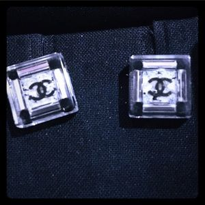 2013 Chanel Crystal & Resin Transparent Earrings